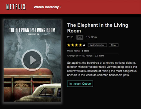 The Elephant In The Living Room A Michael Webber Film Netflix